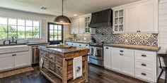 119 Stuning Farmhouse Kitchen Design Ideas And Remodel To Inspire Your Kitchen Modern Farmhouse Kitchens, Home Kitchens, Rustic Kitchen Design, Design Ideas, Layout, Inspire, Inspiration, Home Decor, Houses