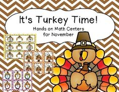 These hands on math centers are perfect for your math stations during November! Each center has a recording sheet and are easy for students to use independently. Here is what is included, please see the preview for details.Time to the hourTime to the half hourHow many turkeys tall are you?