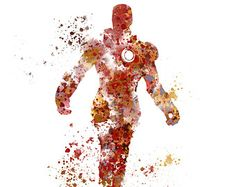 "Iron Man ART PRINT 10 x 8"" illustration, Superhero, Home Decor, Wall Art, Marvel"