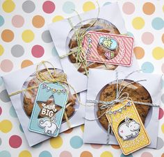 Lawn Fawn - Birthday Tags, Tag- You're It Lawn Cuts, Let's Polka 6x6 paper, Love You Tons, Year Four, Critters from the Past, Lawn Trimmings cord in Lemon, Lime and Sky, Circle and Puffy Star Stackables Lawn Cuts dies  _ Gift Tags by Yainea for Lawn Fawn Design Team, via Flickr