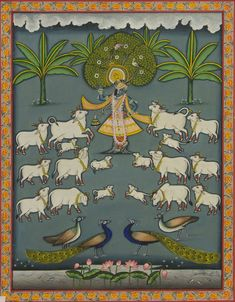 Gaw Charan - I,[product_collection],Artisera Pichwai, - Artisera Hall Painting, Cow Painting, Painting Of Girl, Krishna Drawing, Krishna Art, Shree Krishna, Pichwai Paintings, Indian Art Paintings, Indian Traditional Paintings