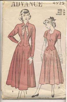 1940s two piece pattern