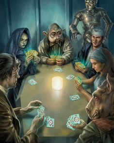 Some card gaming and gambling in the #StarWars universe