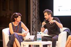 Il dialogo sugli sconfinamenti culturali tra Fabrizio Barozzi e Giovanni Amadasi, il 2 luglio presso l'ex Borsa Valori di Torino. Foto di Jana Sebestova #AIC2015 #sconfinamenti