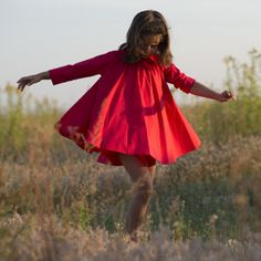This is a beautiful red riding hood dress. It is made of 100% cotton.