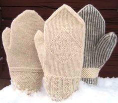 Bilderesultat for pulsvarmer + tveband Knitted Mittens Pattern, Knit Mittens, Knitted Gloves, Knitting Stitches, Hand Knitting, Knitting Patterns, How To Start Knitting, Wrist Warmers, Knit Or Crochet