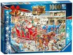 Jigsaw The Christmas Farm 1000 Pieces RB19452 Ravensburger 2014 Limited Edition #Ravensburger