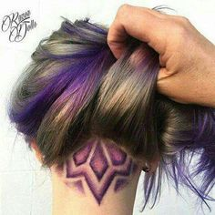 The nape undercut has come a long way in recent years with the development of sharper edges and gorgeous intricate designs, known as hair tattoos. Undercut Hairstyles, Pretty Hairstyles, Undercut Pixie, Blonde Hair Undercut, Wedding Hairstyles, Men's Hairstyle, Medium Hairstyles, Undercut Hair Designs, Undercut Styles