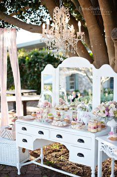 dessert buffet by rapture events Sweet Buffet, Sweet Tables, Bar A Bonbon, Dessert Buffet, Dessert Tables, Dessert Party, Party Tables, Candy Table, Vintage Party