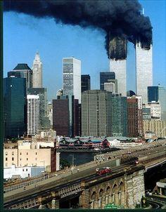 FDNY Ladder 118 responding to the World Trade Center on September 11, 2001