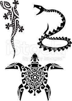 Reptile tribal tattoo royalty-free stock vector art