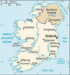 A wonderful map of Ireland.