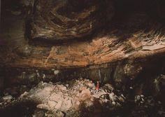 A cavidade estável permanente causada pela detonação de um teste nuclear subterrâneo em 1961.