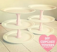 Love Sparkle Pretty: DIY Cupcake Towers! (Dollar Tree Finds)
