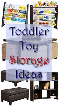 Some great toy storage ideas for families with toddlers!