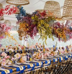 Multicolor hanging floral arrangement tapezieren 2020 Wedding Trends To Bookmark: Part 2 Wedding Lanterns, Wedding Reception Decorations, Wedding Tables, Reception Ideas, Wedding Trends, Wedding Designs, Wedding Ideas, Wedding Pictures, Wedding Colors