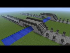 Minecraft Building Ideas – Anvil Bridge # - My world Minecraft Fort, Minecraft Bridges, Minecraft Garden, Minecraft Construction, How To Play Minecraft, Minecraft Buildings, Minecraft Stuff, Minecraft Creations, Minecraft Designs