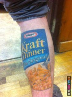 Kraft Dinner Tattoo...seriously????