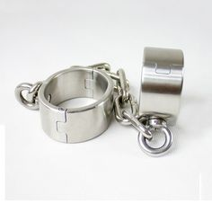 86.00$ Buy now - http://alizti.worldwells.pw/go.php?t=32724830978 - stainless steel leg irons female ankle cuffs metal bondage restraints shackles bdsm fetish sex products for women 86.00$