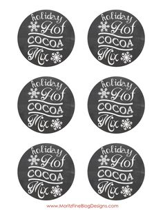 Holiday Hot Cocoa Mix Chalkboard Label | Free Printable | easy DIY gift Idea | www.MoritzFineBlogDesigns.com