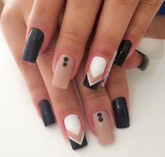 nail art, unha artística #unhasdecoradas #AcrylicNailsCoffin