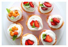 Täytekakku cupcaket  | Strawberry cupcakes