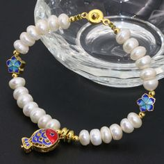 6*8mm factory outlet unique natural white freshwater cultured button abacus pearl beads bracelets cloisonne jewelry7.5inch B2757