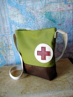 Medic crossbody purse or shoulder bag by atlaspast on Etsy, sold out