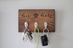 Perfect gift for dog lovers! Customizable for his/his, hers/hers, dog names, etc!