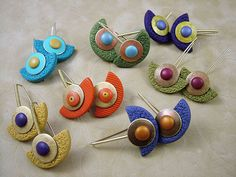love the shape of these   Pendulum Earrings by julie_picarello, via Flickr