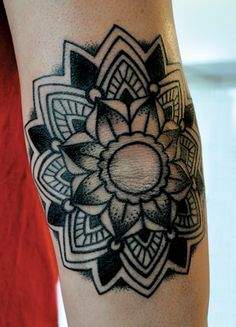 Mandala, great for lower leg sleeve