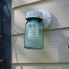 How To: Make a DIY Mason Jar Porch Light (in 30 Seconds)