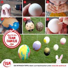Heuer ist Zeit für eine selbstgemachte Osterdeko, oder? Wie man Eier ganz einfach ausblasen kann und Ideen für das Bemalen findet ihr bei unseren Bastel-Tipps 🐣! Außerdem 100 weitere kindgerechte Anleitungen!   #Mitmachtipps #isk #basteltipp #osterbasteln #bastelnfürkinder #kinderbasteln  #wirbleibendaheim #stayathome #krisealschance #kreativzeit #deinteamfamilie #teamfamilie #teamösterreich #coronazeit #bleibgesund Craft Tutorials, Eggs, Homemade, Simple, Ideas