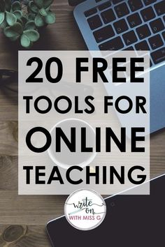 20 Free Tech Tools for Online Teaching 20 FREE ed tech tools for online teaching + remote learning: websites, apps, and extensions to use during distance learning due to the coronavirus Teaching Numbers, Tools For Teaching, Learning Tools, Learning Websites, English Teaching Resources, Learning Resources, Teaching Quotes, Teaching Writing, Teaching Biology