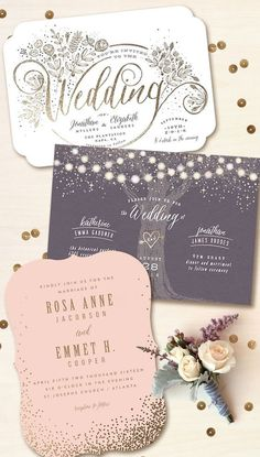 Minted is a community of independent artists, and they're inspired by luxe, real foil on wedding invitations and day-of pieces. Discover your favorites! The best and affordable wedding invitations online Wedding Pins, Wedding Paper, Wedding Cards, Our Wedding, Dream Wedding, Wedding Programs, Spring Wedding, Rustic Wedding, Carton Invitation