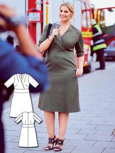 Wrap Shirt Dress (Plus Size) 02/2016 #136