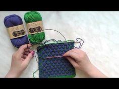 Škola pletení - vzorek pletené bubliny - YouTube
