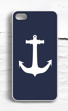 iPhone Navy Anchor Case