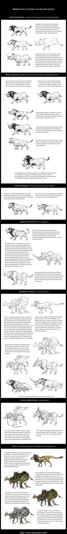 Tutorial on creature design. by Rodrigo-Vega.deviantart.com on @deviantART