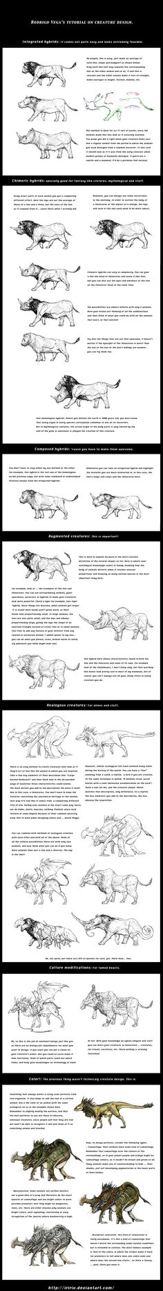 Tutorial on creature design. by Rodrigo-Vega.deviantart.com on @deviantART