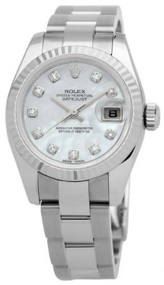 #rolexladieswatches Rolex Datejust Lady Diamond Mother of Pearl Automatic Ladies Watch 179174 Check https://www.carrywatches.com