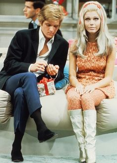 Dean Paul Martin and Nancy Sinatra on the set of The Dean Martin Show, 1967