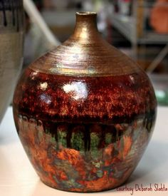 Raku pottery - OMG, I want this piece.