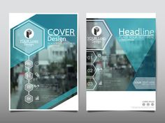 Blue technology hexagon flyer cover business brochure vector design, Leaflet advertising abstract background, Modern poster magazine layout template, Annual report for presentation.