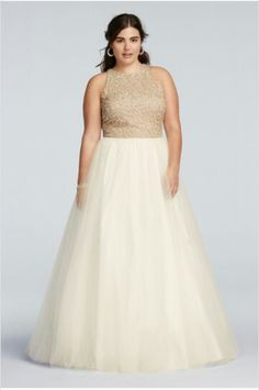 ee5ade0e491 David s Bridal Plus Size Prom Dress Gowns For Plus Size
