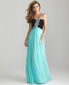 Tween dresses strapless long   ... _Dresses-Water_Black_Chiffon_Rhinestone_One_Shoulder_Prom_Dress.jpg