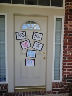 1000 ideas about gender reveal decorations on pinterest for Baby shower front door decoration ideas