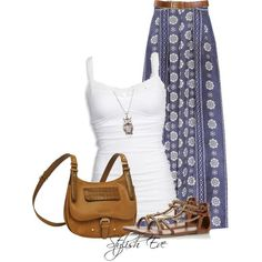 Stylish Eve Outfits 2013: Printed Maxi Skirts for Every Stylish Need