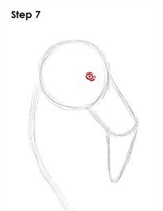 Flamingo Bird Drawing 7