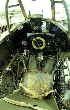 Warbirds — british-eevee: Cockpit of a Hawker Hurricane Mk...